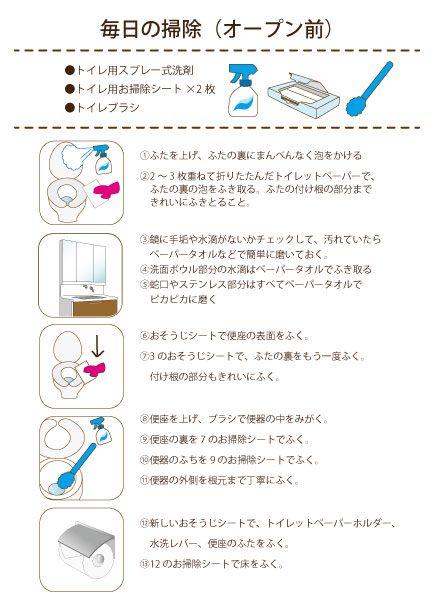 トイレ 掃除 やり方
